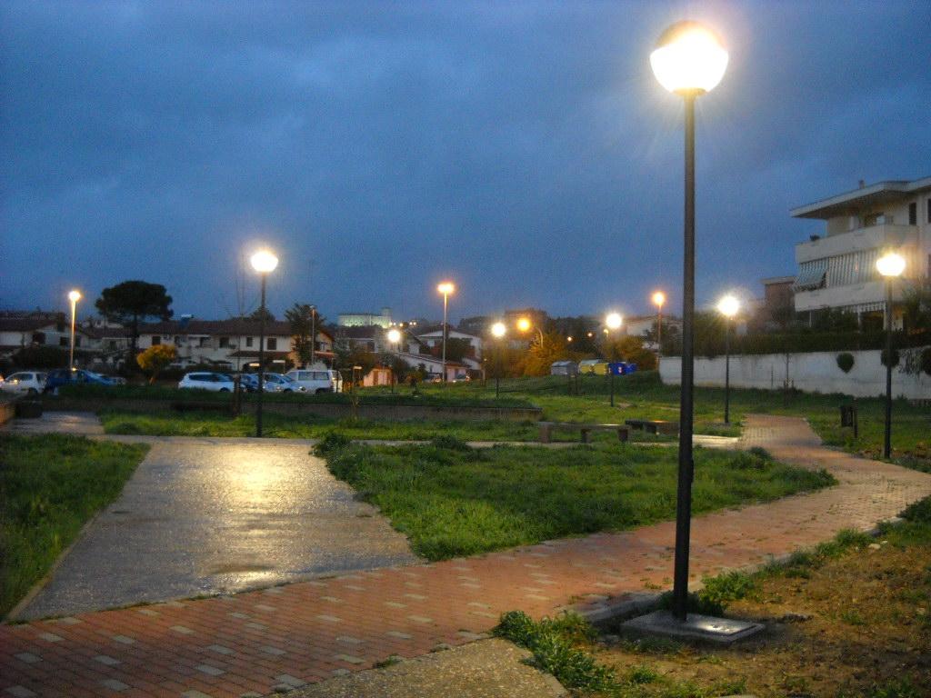 Cerveteri. Realizzato l'impianto di illuminazione di Parco Borsellino  Centumcellae News