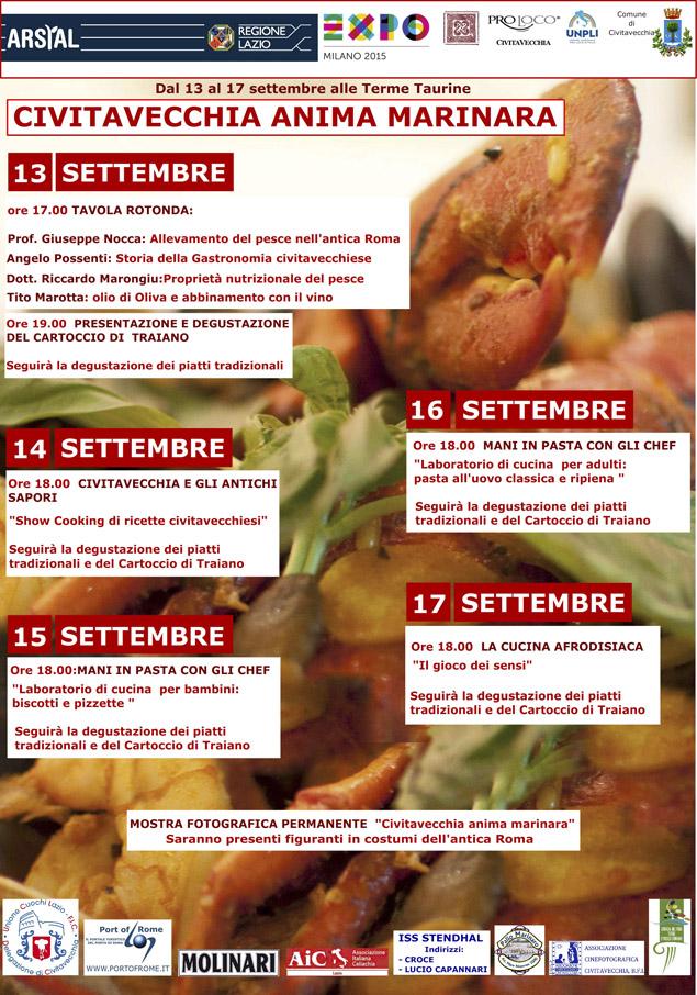 Civitavecchia Anima Marinara - Dal 13 al 17 settembre alle Terme Taurine