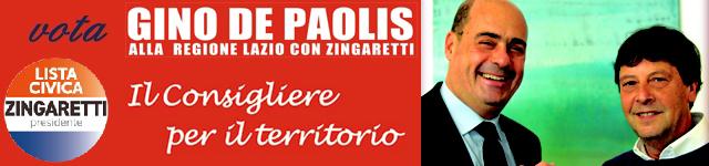 gino del paolis candidato consigliere regionali lazio 2018