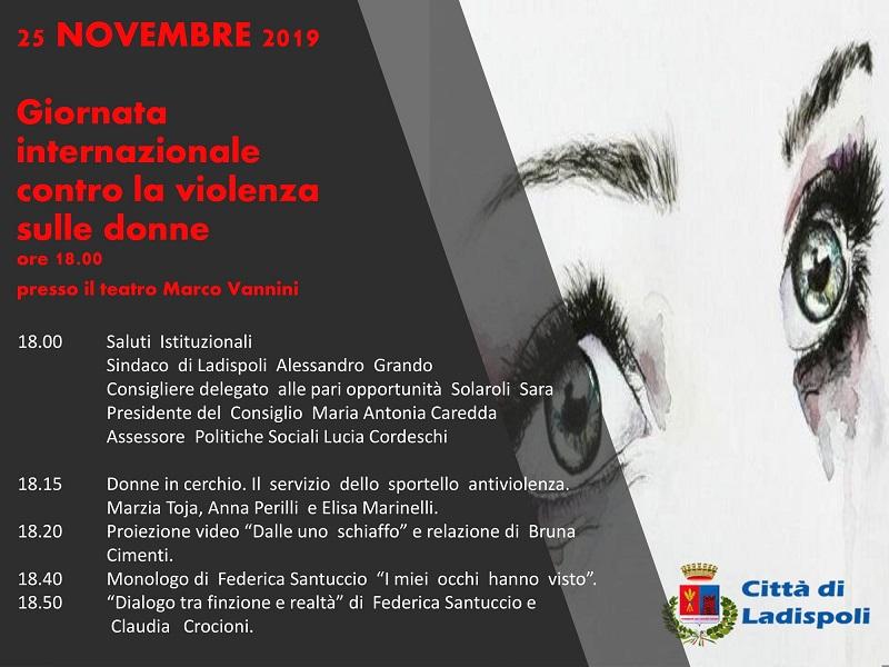 """Ladispoli. Al teatro Vannini la """"Giornata internazionale contro la violenza sulle donne"""" - Centumcellae News"""