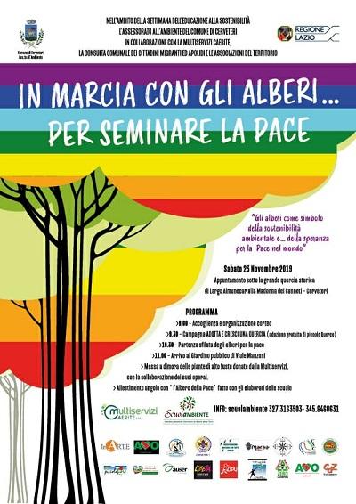 """Cerveteri, """"In marcia con gli alberi… per seminare la Pace"""": una giornata dedicata al territorio e ai cittadini - Centumcellae News"""
